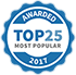 Awarded Top 25 Most Popular 2017